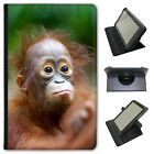 Orangutan Monkey Primates Animal Universal Leather Case For Amazon KindleTablets