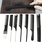 pin salon - Black Plastic Fine-tooth Comb Pin Hairdressing Hair Style Salon Anti-static Comb