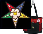 Order of the Eastern Star Gemline Tote Zippered Bag Freemason Masonic Monogram