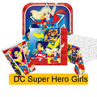 DC SUPER HERO GIRLS Party Range (Birthday/Plates/Napkins/Banner/Toys) Amscan