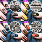 Lace Floral Aztec Pattern Nail Art Image Stamp Template Plate Polish Stamping