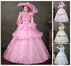 Victorian Medieval Renaissance Dress Theater Ball Gown Women Stage costumes