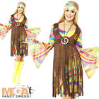 1960s Groovy Lady Fancy Dress Womens Hippie Costume 60s-70s Hippy Ladies Outfit