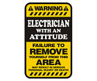 Electrician Warning Yellow Decal Lineman Gloss Vinyl Hard Hat Window Sticker NO6
