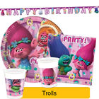 Dreamworks TROLLS Birthday Party Range - Tableware Balloons & Decorations