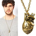 Hot Fashion Vintage Anatomy Heart Pendant Necklace for Men and Women Jewelry HF