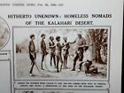 1926 ILLUSTRATED LONDON NEWS- HEIKUM Bushmen KALAHARI Denver AFRICAN Expedition