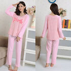 MASALING Women's Soft Long Sleeve Sleepwear Pajamas Set Nightwear Leisure Wear