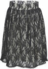 Küstenluder MALLIE Vintage Black LACE Tulle Pin Up Skirt / Rock Rockabilly