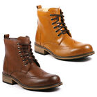 Metrocharm Men's Lace Up Wing Tip Military Combat Work Casual Fashion Ankle Boot