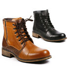 Metrocharm Men's Lace Up Cap Toe Military Combat Work Desert Fashion Ankle Boots