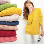 FASHION WOMENS LADIES OVERSIZED KNITTED JUMPER CHUNKY THICKEN WOOL BAGGY SWEATER