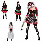 DAY OF THE DEAD WOMENS FEMALE FANCY DRESS COSTUMEOUTFIT MEXICAN DARLIN DRESS
