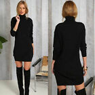 Women Winter  Long Sleeve Jumper Sweater Top Slim Bodycon Mini Dress