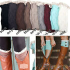 Women's Crochet Knitted Lace Trim Toppers Cuffs Liner Leg Warmers Boot Socks Hot
