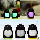 Mini Penguin Colorful Light USB Aroma Diffuser Air Purifier Car Home Humidifier