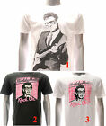 ASIA SIZE Buddy Holly T-shirt Rock n Roll Music Crickets White Black Cotton Tee