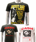 ASIA SIZE Rock Band T-shirt Johnny Cash Festival Black White Casual Tee RABB