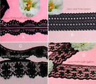 "Black Lace Trim 15-80 Yds CLOSEOUT 1/2""-1-1/2"" 048BV Choice Added Trims ShipFree"