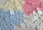 SMALL FLOWER BUTTONS - PEARL TEENY BABYKNIT VARIOUS COLOURS QUANTITIES SIZES