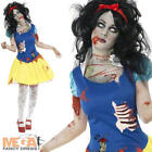 Zombie Snow White Fright Ladies Halloween Fancy Dress Fairytale Adults Costume