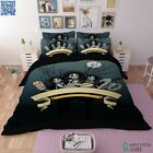 New Quilt/Duvet/Cover King Single/Queen/King Size Bed Skull Set Doona Cover 1153