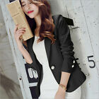 New women's fashion button thin coat of leisure business suit jacket coat is wor