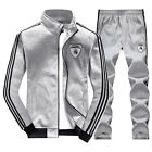 New Men's Winter Warm Athletic Apparel Sport Suit Set Hoodie Jacket Activewear
