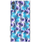 Striking Blue Purple Patterns Hard Back Case Phone Cover for Sony Xperia XZ
