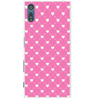 Pretty Pink Love Heart Patterns Hard Back Case Phone Cover for Sony Xperia XZ