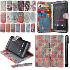 For HTC Desire 530 630 Flip Wallet LEATHER Skin POUCH Case Phone Cover + Pen
