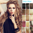 """Full Head Set 100% Human Hair Clip In Extensions Remy Hair AAA Quality 7pcs 15"""""""