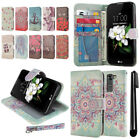 For LG K7 Tribute 5 LS675 MS330/M1/L52VL Flip Wallet Skin POUCH Case Cover + Pen