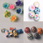 10-100pc Polymer Clay Resin Lampwork Flower Cloth Beads Spacer Beads Jewelry