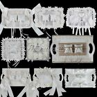 Fashion Wedding Ring Tray Ring Pillows With Lace Ribbon Flowers Plate Decoration