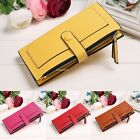 Womens Ladies Long Wallet Leather Zipper Coin Card Clutch Purse Handbag Bag B20E