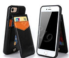 Retro Leather Wallet Credit Card Slot Back Case Cover Skin For iPhone/Samsung