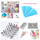 Cake Decoration tools ice piping nozzle & piping bags sugarcraft cupcake mold *R