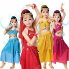 New Kids Belly Dance Outfits Children Indian Dancing Fancy Dress Sequins Costume