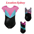 AU Little Girls Colorful Ribbon Gymnastics Leotards Ballet Sport Tank Suit 3-14Y