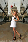 Karen Millen Black White Sporty Block Evening Shift Mini Dress 12 40 US 8 New