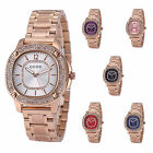 Women Lady Luxury Rose Gold Crystal Quartz Stainless Steel Bracelets Watches