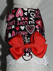 DOG CAT FERRET Custom Couture Harness~Romantic HEART Valentines Love w/ Lace Bow