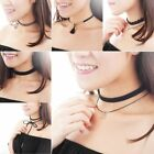 Gothic Black Lace Retro Choker Collar Lace Flower Pendant Chain Necklace Jewelry
