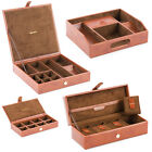 Mele & Co 'Raffles Collection' Gentlemans Brown Faux Leather Organiser / Watch /
