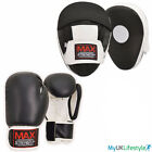 Boxing Gloves Gel Focus Pads Set Punching Kick Training Gym Punch Bag Hook