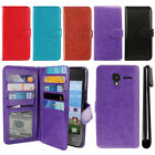 For Alcatel OneTouch Pixi Glitz A463BG Card Slot Holder Wallet Cover Case + Pen