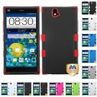 For ZTE Grand X Max Z787 Hybrid TUFF IMPACT Phone Case Hard Rugged Cover