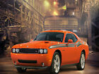 DODGE CHALLENGER FRAMED CANVAS ART PRINT A0 A1 A2
