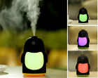 Mini Portable Penguin Humidifier LED Night Light USB Humidifier Air Purifier New